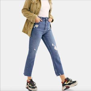 Free People High Rise Raw hem jeans 24